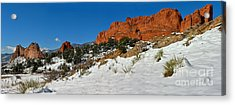 Acrylic Print featuring the photograph Snowy Fields At Garden Of The Gods by Adam Jewell