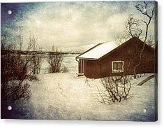 Snowy Landscape Acrylic Print