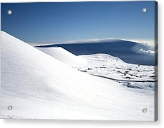 Snowy Mauna Kea Acrylic Print by Peter French - Printscapes