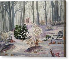 Snowy Morning Acrylic Print by Gloria Condon
