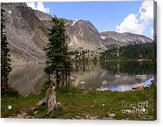 Snowy Mountain Loop 5 Acrylic Print by Marty Koch