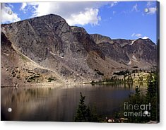 Snowy Mountian Loop 8 Acrylic Print by Marty Koch