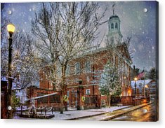 Snowy New England Morning In Peterborough New Hampshire Acrylic Print