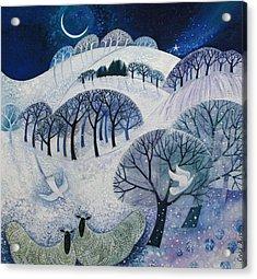 Snowy Night  Acrylic Print by Lisa Graa Jensen