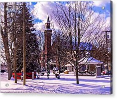 Snowy Old Town Hall Acrylic Print