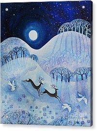 Snowy Peace Acrylic Print by Lisa Graa Jensen