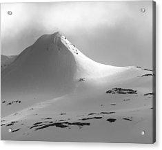 Snowy Peak Over Grundarfjordur Acrylic Print