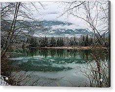 Snowy Reflection Acrylic Print