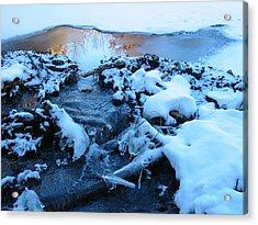 Snowy Reflections Acrylic Print by Angela Murray