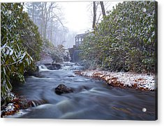 Acrylic Print featuring the photograph Snowy River And Waterfall by Brian Hale