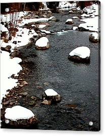 Snowy River Acrylic Print by The Forests Edge Photography - Diane Sandoval