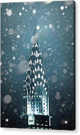 Snowy Spires Acrylic Print by Az Jackson