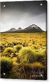 Snowy Tasmania Mountain Top Acrylic Print by Jorgo Photography - Wall Art Gallery