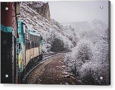 Snowy Verde Canyon Railroad Acrylic Print