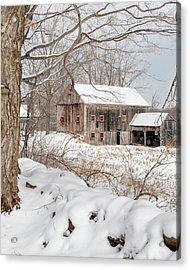 Snowy Vintage New England Barn Acrylic Print
