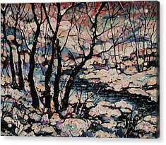 Snowy Woods Acrylic Print by Natalie Holland