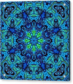 So Blue - 04v2 - Mandala Acrylic Print by Aimelle