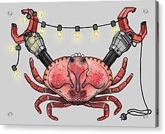 So Crabby Chic Acrylic Print by Kelly Jade King