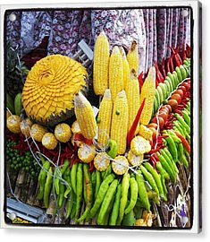 Acrylic Print featuring the photograph So, Elephants Eat Red Hot Chile by Mr Photojimsf
