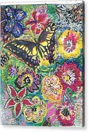 So Many Flowers So Little Time Acrylic Print by Anne-Elizabeth Whiteway
