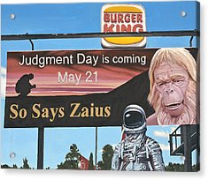 Acrylic Print featuring the painting So Says Zaius by Scott Listfield