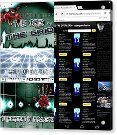 So This Is My Book the Grid! I Told Acrylic Print