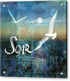 Soar Acrylic Print by Evie Cook
