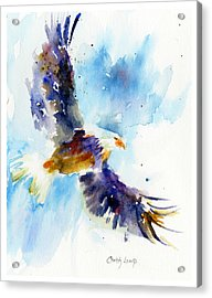 Soaring Eagle Acrylic Print by Christy Lemp