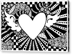 Soaring Heart  Acrylic Print by Nada Meeks