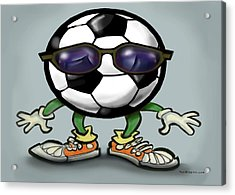 Soccer Cool Acrylic Print by Kevin Middleton