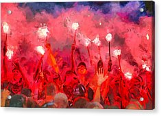 Soccer Fans Pictures Acrylic Print