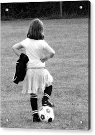 Soccer Fashionista Acrylic Print by Keith Campagna