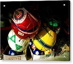 Soccer For Sale Acrylic Print by Chuck Taylor