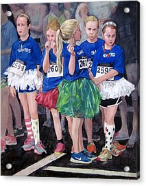 Soccer Girls Acrylic Print