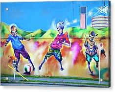 Acrylic Print featuring the photograph Soccer Graffiti by Theresa Tahara