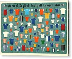 Soccer Shirts Acrylic Print by Daviz Industries