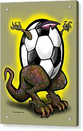 Soccer Zilla Acrylic Print
