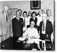 Social Security Act, 1935 Acrylic Print by Granger