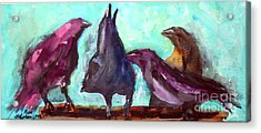 Socializing Acrylic Print by Ron Stephens