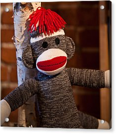 Sock Monkey Acrylic Print