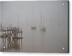 Socked In Acrylic Print by Peter Williams