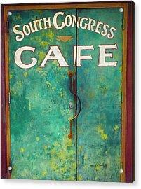 Soco Cafe Doors Acrylic Print