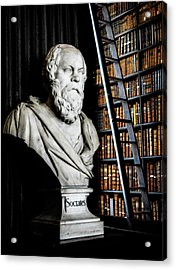 Socrates A Writer Of Knowledge Acrylic Print