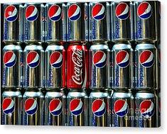 Soda - Coke Vs. Pepsi Acrylic Print