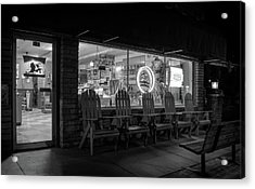 Soda Pops At Night In Black And White Acrylic Print