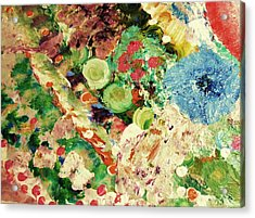 Sofia's Flower's Acrylic Print by HollyWood Creation By linda zanini