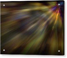 Soft Amber Blur Acrylic Print
