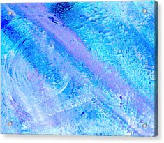 Soft And Dreamy Blues And Lavender Acrylic Print by Anne-Elizabeth Whiteway