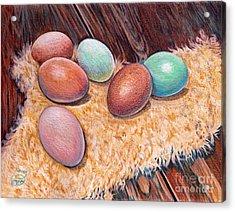 Soft Eggs Acrylic Print
