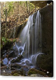 Acrylic Print featuring the photograph Soft Falls by Alan Raasch